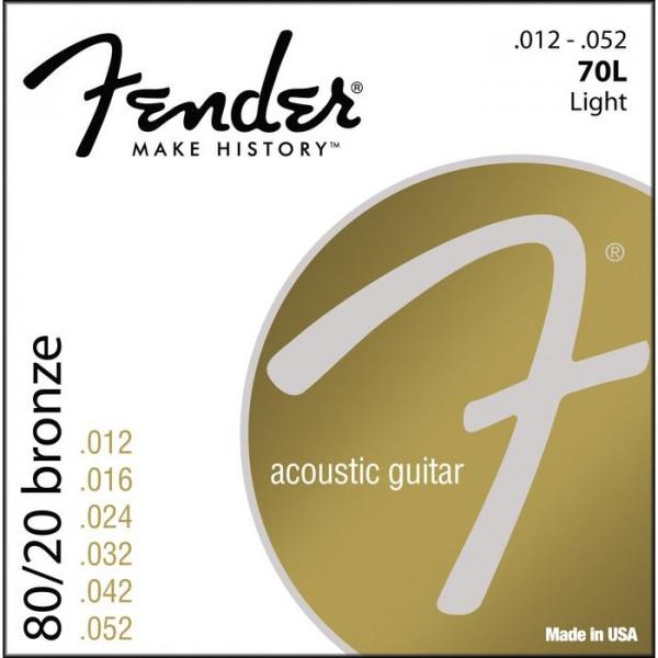 Струни для акустичної гітари Fender 70L