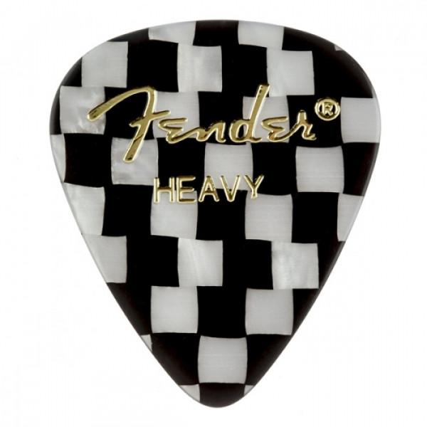 Медіатори Fender 351 Shape Premium Picks Checker Heavy