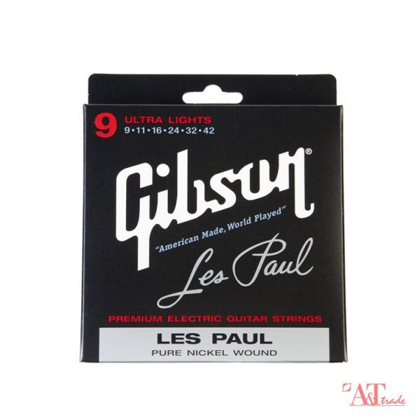 GIBSON SEG-LP9 LES PAUL PURE NICKEL WOUND .009-.042